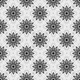Simple vector seamless black and white background, texture. Stock Photo