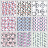 Simple vector seamless patterns Royalty Free Stock Photo