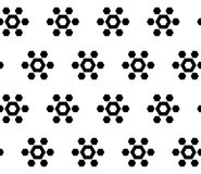 Simple vector seamless texture, geometrical hexagonal floral fig. Monochrome geometric seamless pattern, simple vector texture with black geometrical hexagonal Royalty Free Stock Photo