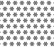 Simple vector seamless texture, geometrical hexagonal floral. Monochrome geometric seamless pattern, simple vector texture with black geometrical hexagonal Stock Photos