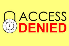 Simple vector sign, Access Denied Royalty Free Stock Photography