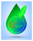 Simple vector Sign Go Green Royalty Free Stock Image