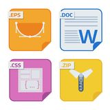 File types and formats labels icon presentation document symbol application software folder vector illustration. Simple vector square file types and formats Stock Images