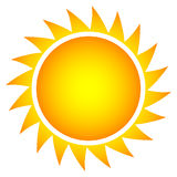Simple vector sun Stock Photo