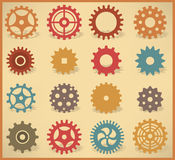 Simple vector tooth wheels Stock Photography