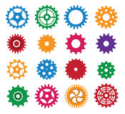 Simple vector tooth wheels Royalty Free Stock Photography