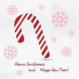 Simple vector white christmas card Stock Photos