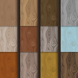 Simple vector wooden textures set in flat style royalty free illustration