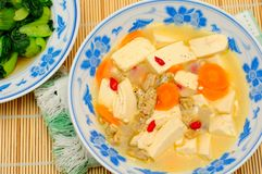 Simple vegetarian bean curd Royalty Free Stock Photo