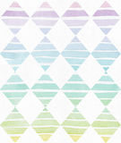 Simple vertical template with handdrawn ink triangles made in freehand style, with stripe gradient texture, imperfect, grainy, bri Stock Images