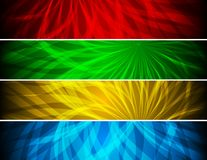 Simple vibrant banners Stock Photography