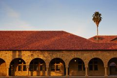 A simple view in Stanford university. A simple scene in Stanford University royalty free stock image
