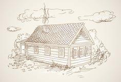 Simple village house Stock Photos