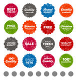 Simple vintage badges Stock Image