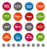 Simple vintage badges. Set of vintage retro premium quality badges and labels Stock Image