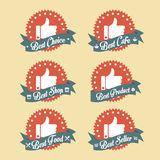 Simple Vintage Best Choice Badge Set Stock Photography