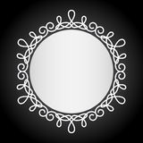 Simple vintage black and white frame Stock Image