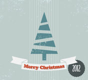 Simple vintage  Christmas card Royalty Free Stock Images