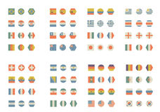Simple and vintage flags stock photo