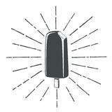 Simple, vintage, retro, classic ice cream icon Stock Image