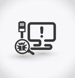 Simple virus alert icon on white background. Simple virus alert vector. EPS10. Royalty Free Stock Photography