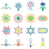 Simple virus graphic Stock Images