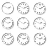Simple watch dials 3d style icons set eps10 Stock Image