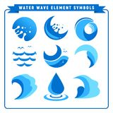 Simple Water Wave Element Symbols Stock Photography