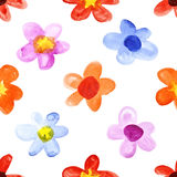 Simple watercolor flowers Stock Photos