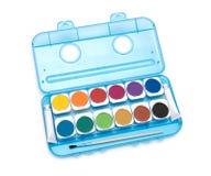 Simple watercolour paints palette Stock Photo