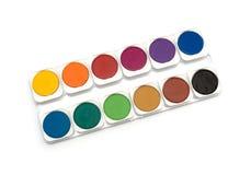 Simple watercolour paints palette Stock Image