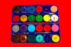 Simple watercolour paints palette Stock Photography
