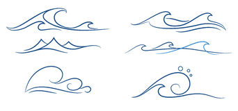 Simple waves set Stock Image
