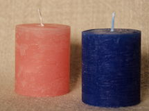 Simple wax candle Stock Photography
