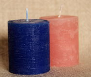 Simple wax candle Royalty Free Stock Image