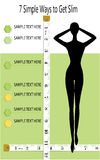 7 Simple ways to get slim with measure tape  vector  illustrations Stock Photos