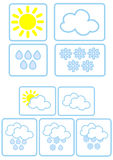 Simple weather icons Stock Photography