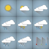 Simple weather icons Royalty Free Stock Photography