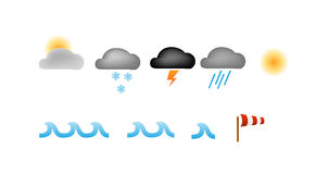 Simple weather icons vector Stock Images