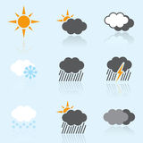 Simple Weather Icons Royalty Free Stock Image