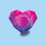 Simple web icon, heart illustration Royalty Free Stock Image