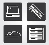Simple web icon in : office equipment Royalty Free Stock Images