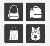 Simple web icon in : shopping basket royalty free stock photo