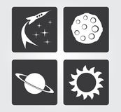 Simple web icon in : space Stock Photo