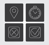 Simple web icon in : thin line style Stock Image