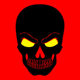 Simple web icon in vector skull red background illustration. Stock Photography
