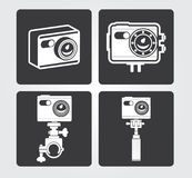 Simple Web Icons: Action Camera Stock Images
