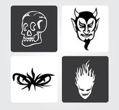 Simple Web Icons: Evil Royalty Free Stock Image