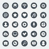 Simple web icons set. Universal web icon to use in web and mobile apps. Royalty Free Stock Images