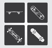 Simple web icons: Skateboard Royalty Free Stock Photos